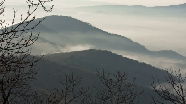 tuscany - circa 2012: time lapse of fog and mountain  - prato stock videos and b-roll footage