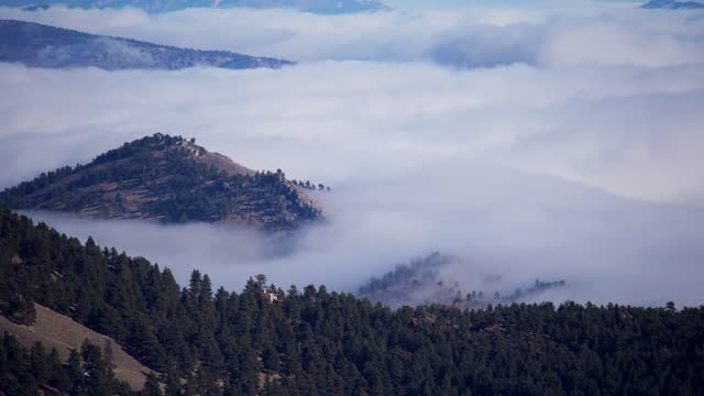 time lapse of fog clouds from above - boulder stock videos & royalty-free footage