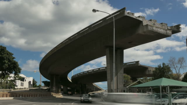 Time Lapse of freeway to nowhere,  the end of the road