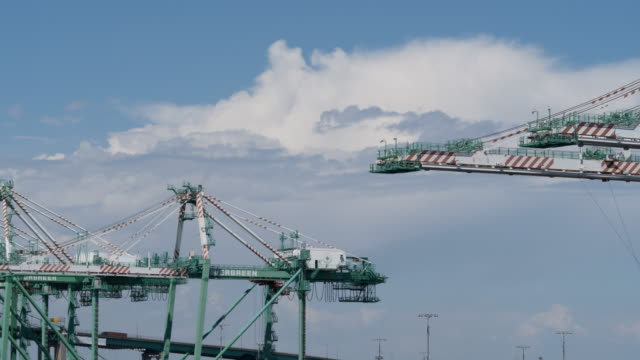time lapse of harbor crane and clouds - metal blend stock videos and b-roll footage