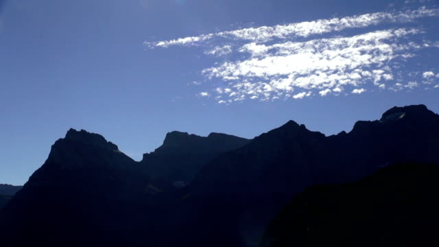 time lapse of high cirrus clouds over mountain peaks. - glacier national park us stock videos and b-roll footage