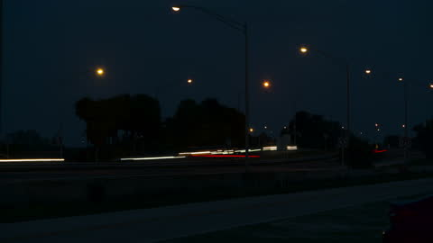 time lapse of highway traffic fast night in florida - traffic time lapse stock videos & royalty-free footage