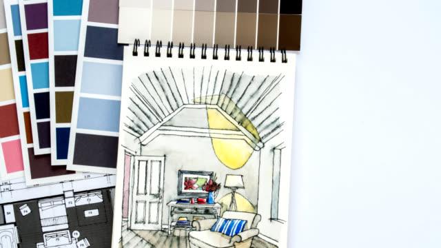 Time lapse di ristrutturazione casa & decorazioni concetto