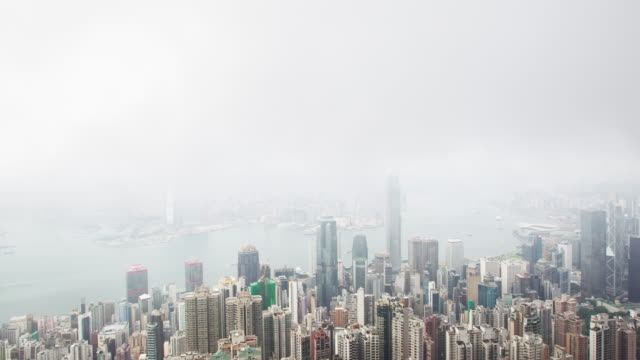 Time Lapse of Hong Kong Skyline Victoria Peak.