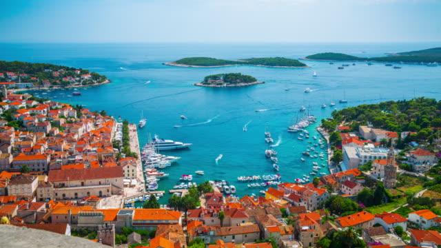Time Lapse of Hvar town on Hvar island, Croatia
