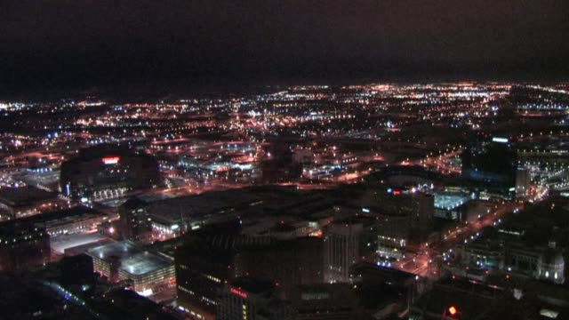 time lapse of indianapolis during a lightning storm - indianapolis video stock e b–roll