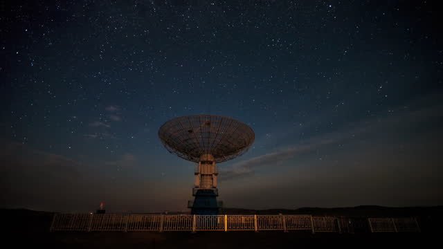 time lapse of inner mongolia at dusk - astronomical telescope stock videos & royalty-free footage