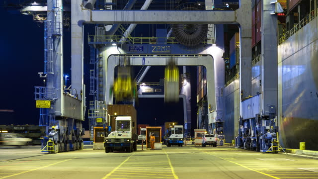 Time Lapse of Intermodal Activity in Port