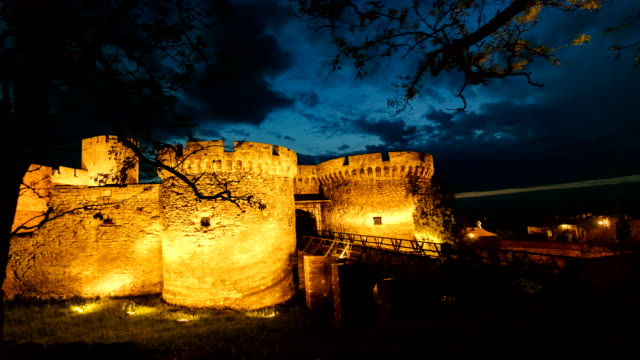 time lapse of kalemegdan in belgrade serbia - belgrade serbia stock videos and b-roll footage