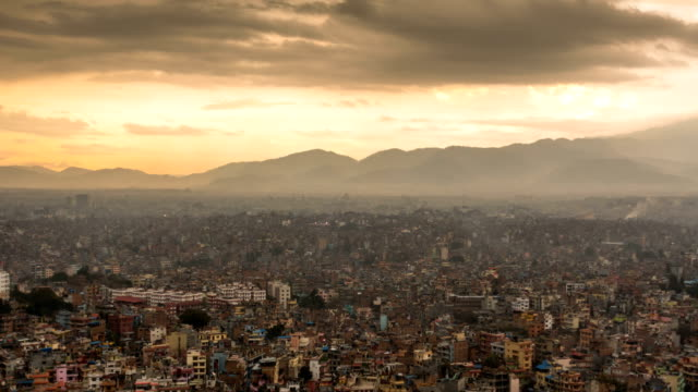 time lapse of kathmandu city in nepal - population explosion stock videos & royalty-free footage