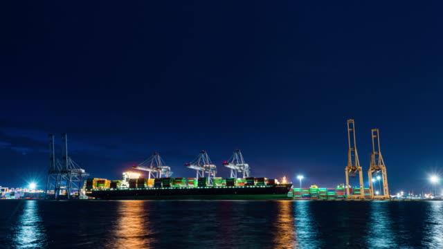 Time lapse of Laemchabang harbor