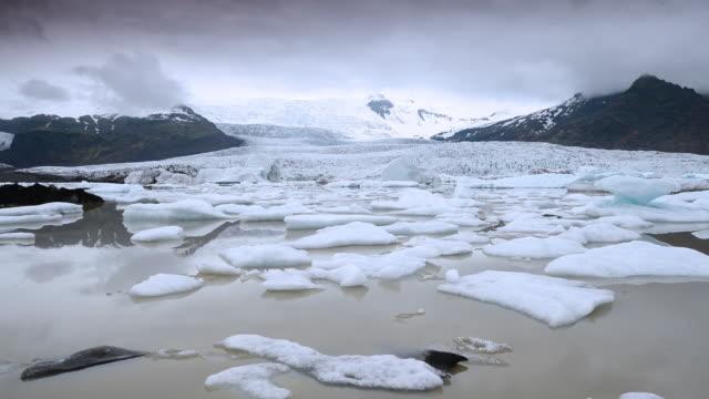 Time Lapse of Landscape at Jokulsarlon glacier, Iceland