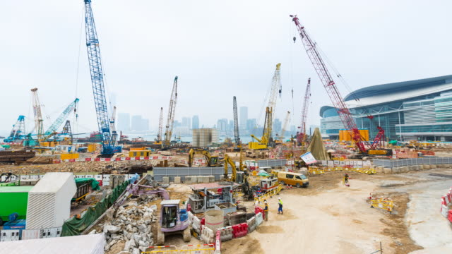 Time Lapse of large construction site
