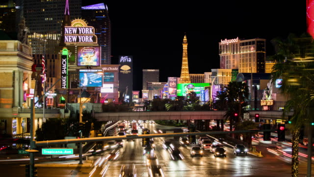 time lapse of las vegas strip at night - 4k cityscapes, landscapes & establishers - the strip las vegas stock videos and b-roll footage