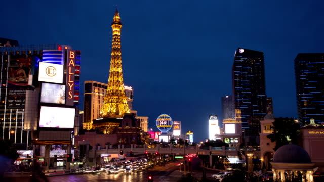 Time lapse of Las Vegas strip road at night