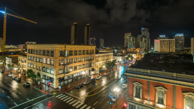 time lapse of lightning in downtown san diego, california. filmed on a rainy, stormy night. shot on sony dslr camera. - san diego stock videos & royalty-free footage