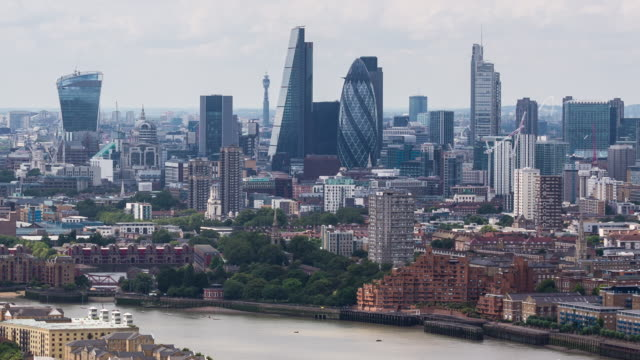 LONDON - CIRCA 2014: Time Lapse of London Skyline during day from a high point of view