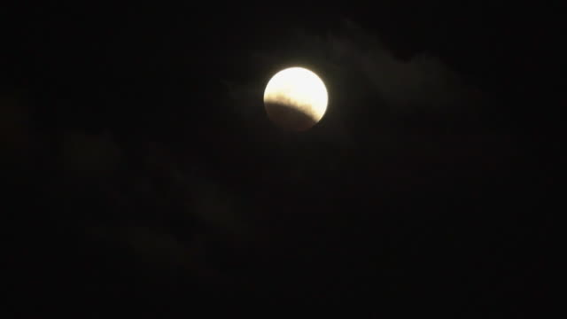 Zeitraffer der Mondfinsternis