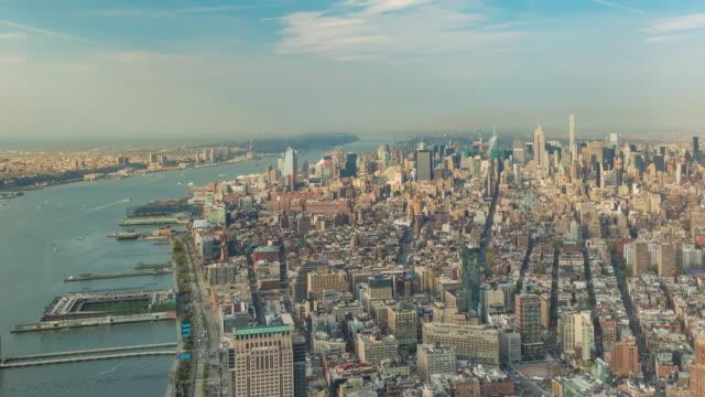 Lapso de tiempo de Manhattan Skyline y Brooklyn