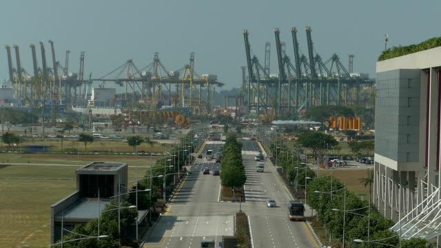 時間の経過の marina boulevard ポート付きのアクティビティーの背景 - ポートワイン点の映像素材/bロール