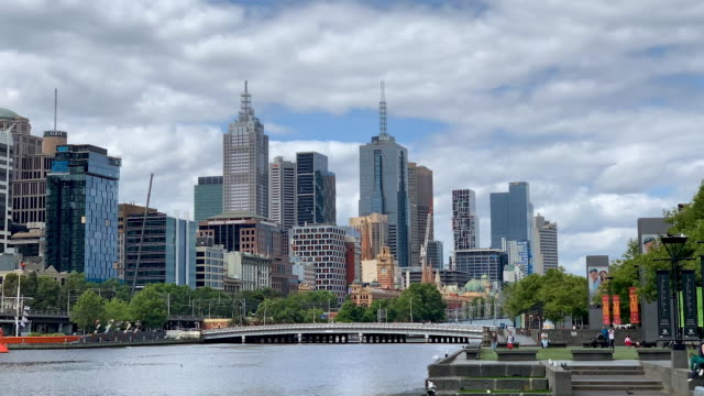 time lapse of melbourne, australia - skyline stock videos & royalty-free footage