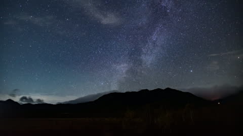 time lapse of milky way and star sky galaxy , nikko , japan - southern hemisphere stock videos & royalty-free footage