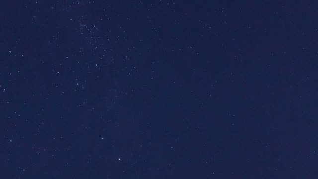 time lapse of milky way observed from montevideo coastline - rio de la plata stock videos & royalty-free footage