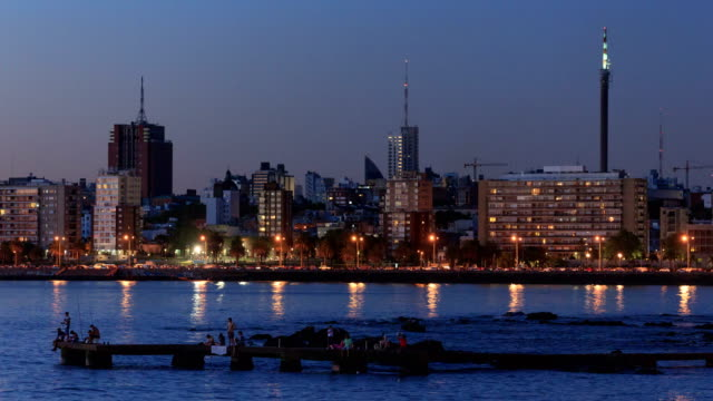 time lapse of montevideo's skyline, uruguay. - montevideo stock videos & royalty-free footage