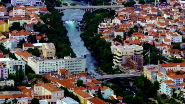 time lapse of mostar city and neretva river - bosnia and hercegovina, - bosnia and hercegovina stock videos & royalty-free footage