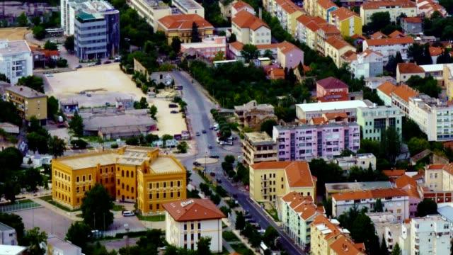 莫斯塔爾市和內雷特瓦河的時間流逝----波士尼亞和黑塞哥維那和赫塞格維納河, - 波斯尼亞 赫塞哥維納 個影片檔及 b 捲影像