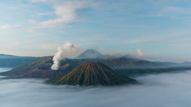 time lapse of mount bromo volcano - indonesia volcano stock videos & royalty-free footage