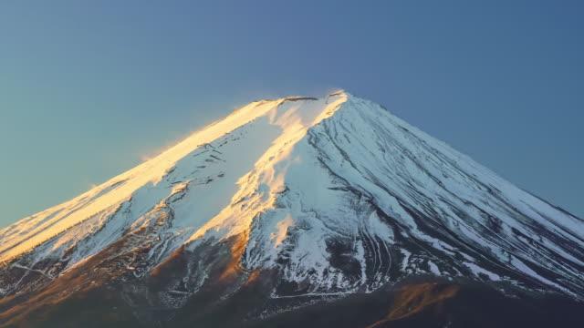 Zeitraffer des Mount Fuji am Lake Kawaguchiko