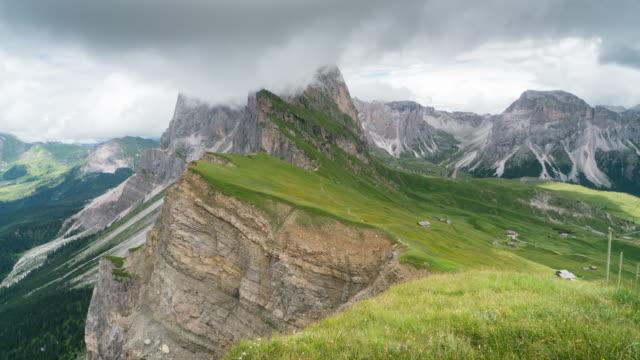 Zeit Ablauf des beweglichen Wolke am Secede, Dolomiten