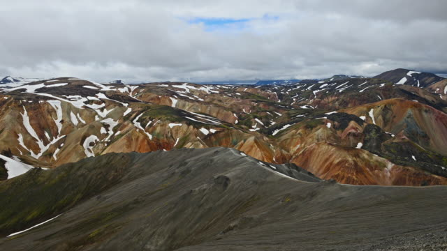 Time Lapse of Moving cloud over Landmannalaugar, Iceland