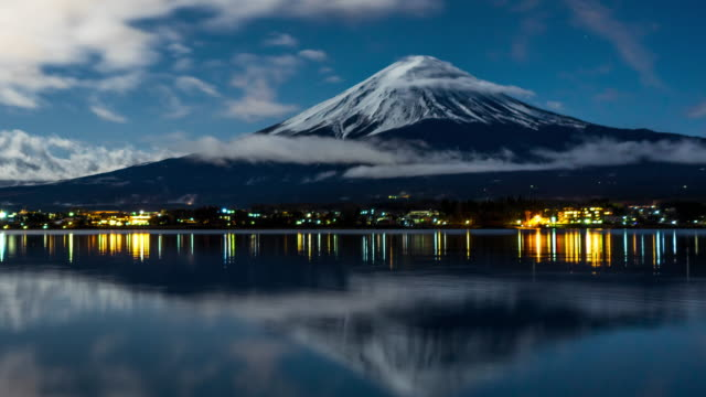Time lapse of Mt Fuji at Night