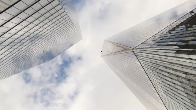 Time Lapse of New York City Office Building and Clouds