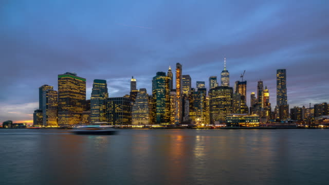 time lapse of new york cityscape - day to night time lapse stock videos & royalty-free footage