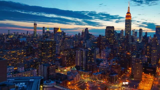 Zeitraffer der Skyline von Neu York