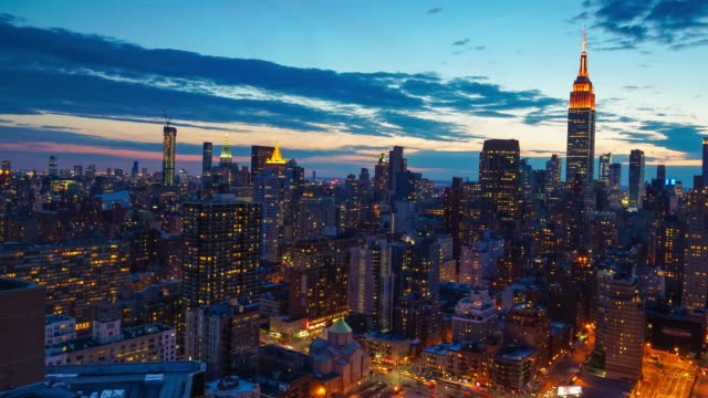 Time lapse of New York skyline