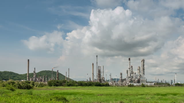 Time Lapse of Oil Refinery