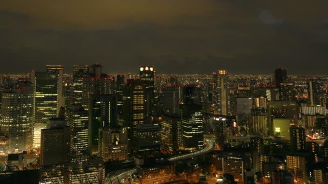 大阪市のスカイラインの時間経過 - 地形点の映像素材/bロール
