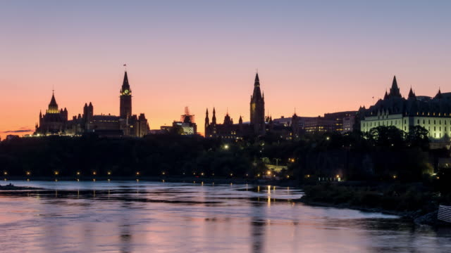 time lapse of parliament hill in ottawa, ontario, canada - ottawa stock videos & royalty-free footage