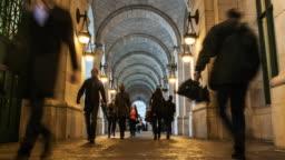 4K Time lapse of Pedestrians around Washington DC Metro Train Station, United States