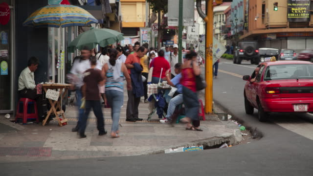 Time Lapse Of Pedestrians On San Jose Sidewalk