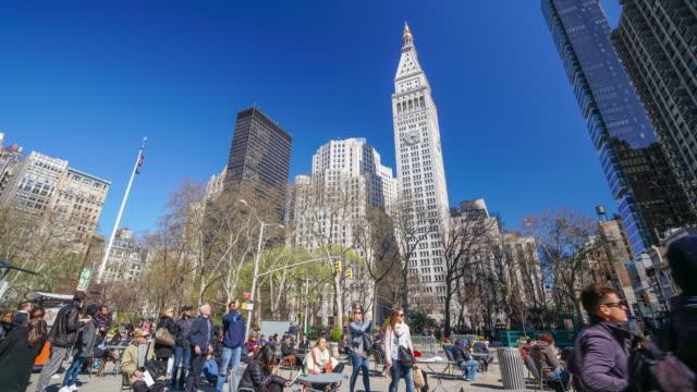 Zeitraffer von Menschen und Neu York Stadt