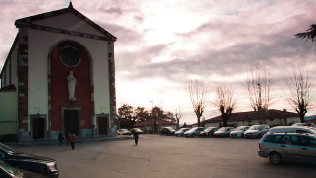 tuscany - circa 2012: time lapse of people going to church - prato stock videos and b-roll footage