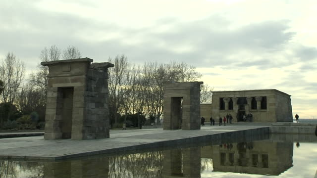 Time Lapse of People In Debod Temple