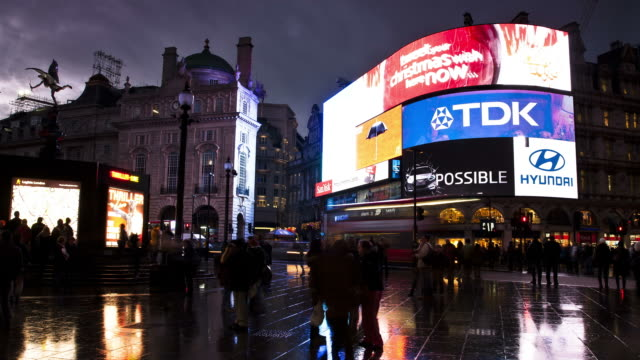 london - circa 2012:  time lapse of people in london's piccadilly circus circa 2012. - piccadilly circus stock videos and b-roll footage