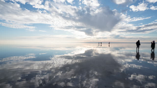 Time lapse of people Salt lake in turkey