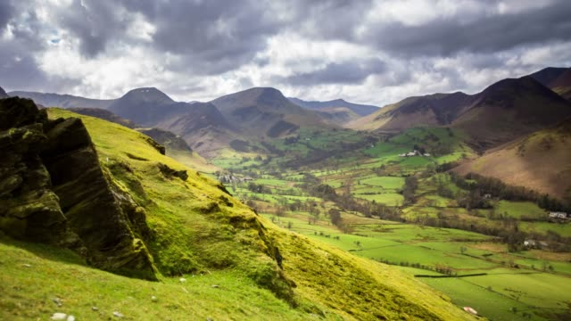 Time Lapse of Picturesque Valley in the English Lake District